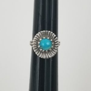 Sterling SILVER Turquoise Cabochon Stone Ring
